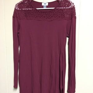 Old navy size small long sleeve burgundy tunic